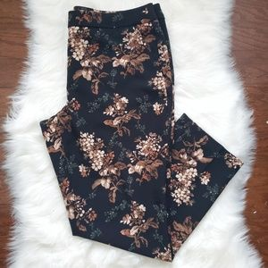 Cynthia Rowley Floral Dress Pants size 14